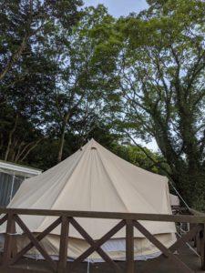 ウフフビレッジのテント